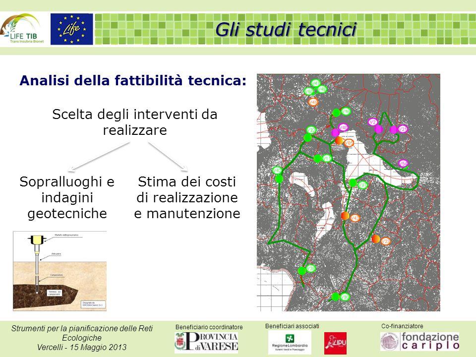 Beneficiario coordinatore Beneficiari associatiCo-finanziatore Strumenti per la pianificazione delle Reti Ecologiche Vercelli - 15 Maggio 2013 Analisi