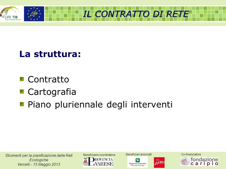 Beneficiario coordinatore Beneficiari associatiCo-finanziatore Strumenti per la pianificazione delle Reti Ecologiche Vercelli - 15 Maggio 2013 La stru