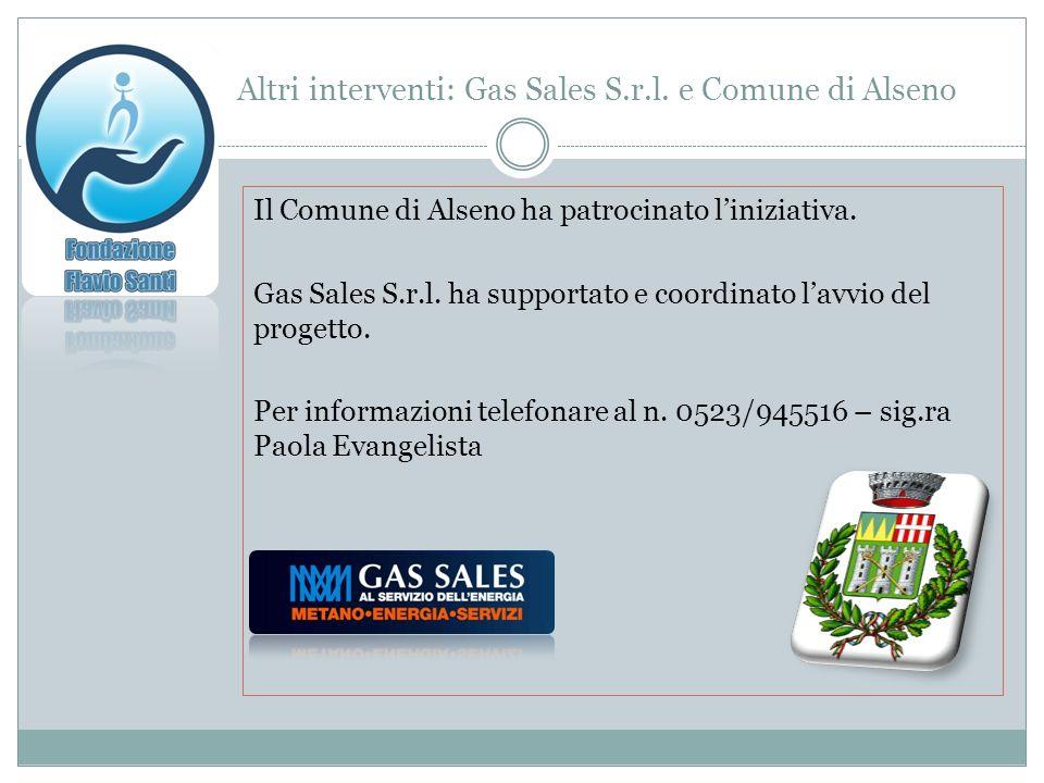 Altri interventi: Gas Sales S.r.l.