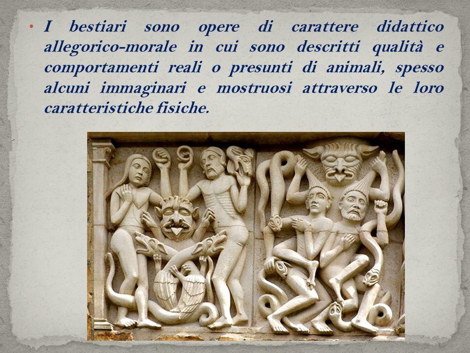 ll capostipite dei bestiari è il Physiologus, scritto attorno il II e III secolo d.C.