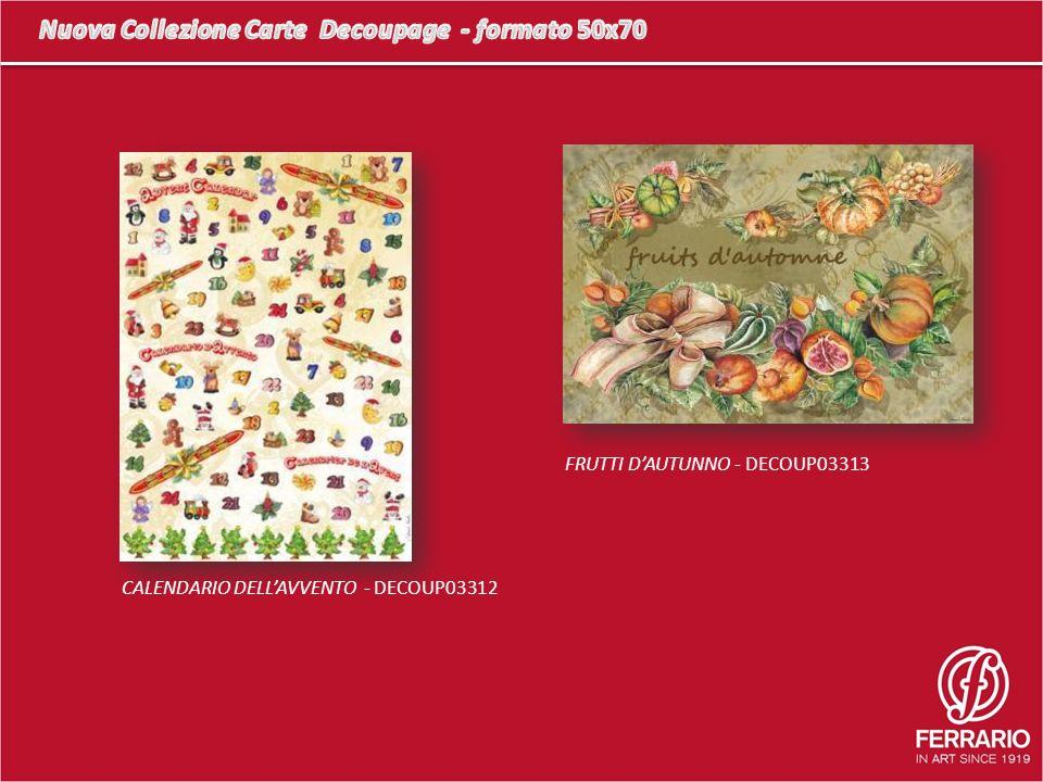 FRUTTI DAUTUNNO - DECOUP03313 CALENDARIO DELLAVVENTO - DECOUP03312