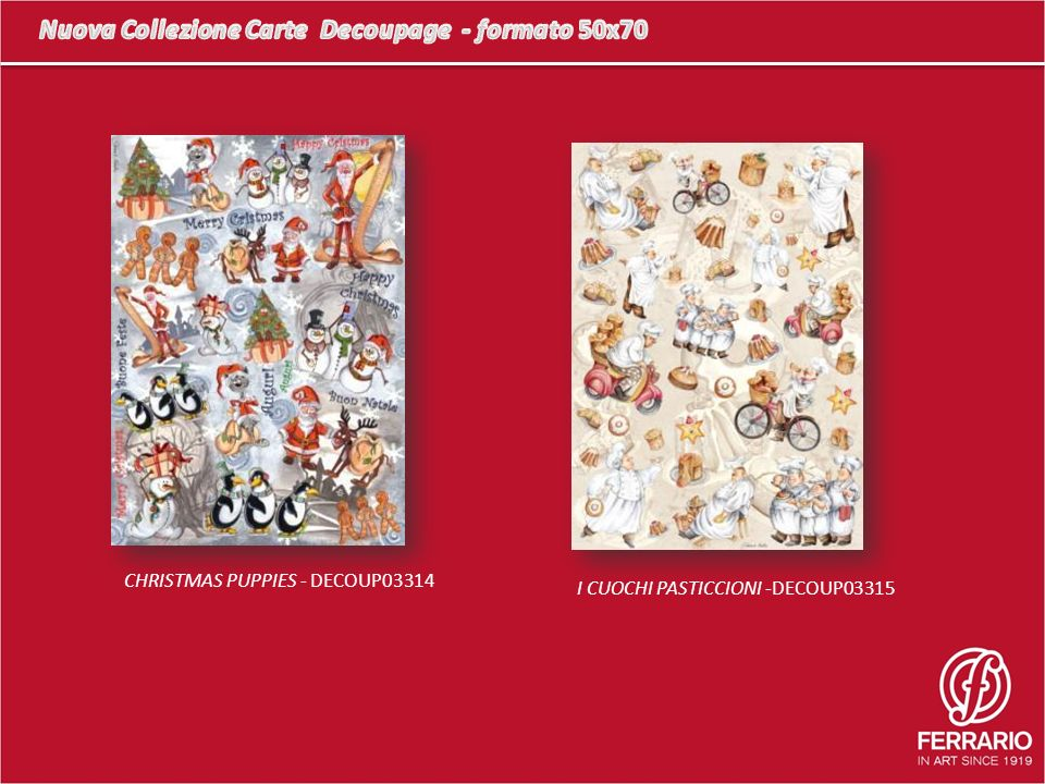 CHRISTMAS PUPPIES - DECOUP03314 I CUOCHI PASTICCIONI -DECOUP03315