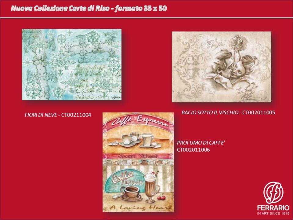 FIORI DI NEVE - CT00211004 BACIO SOTTO IL VISCHIO - CT002011005 PROFUMO DI CAFFE CT002011006