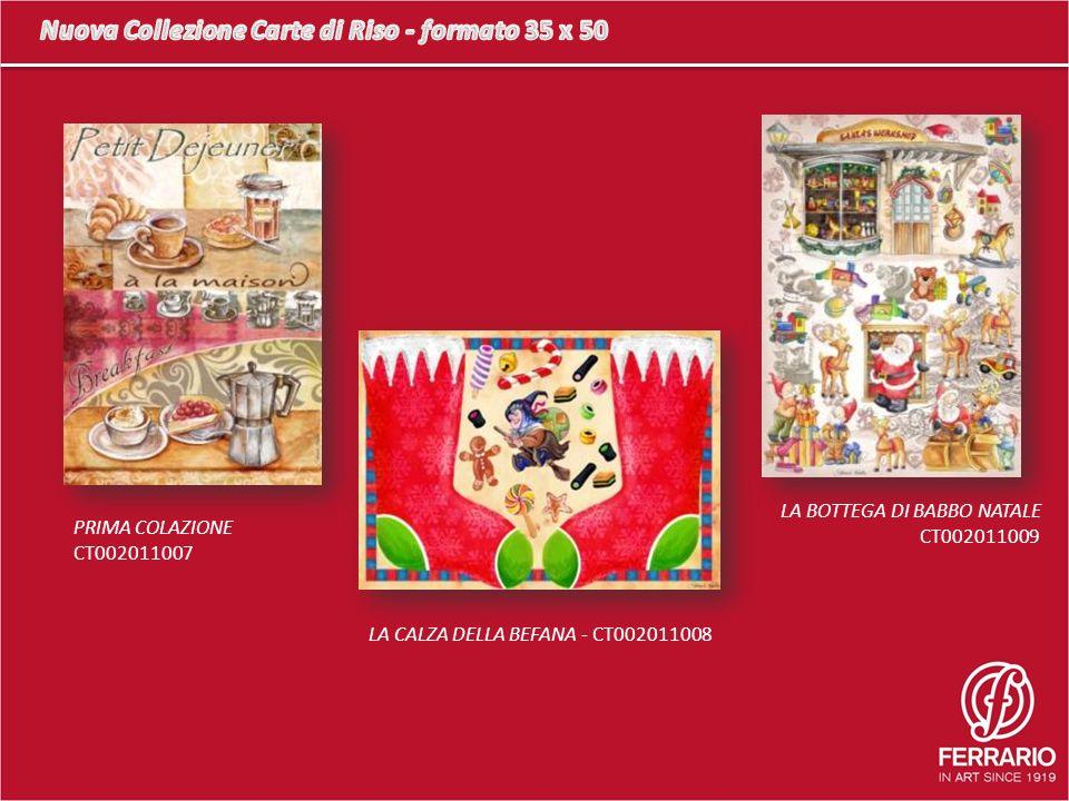 PRIMA COLAZIONE CT002011007 LA CALZA DELLA BEFANA - CT002011008 LA BOTTEGA DI BABBO NATALE CT002011009