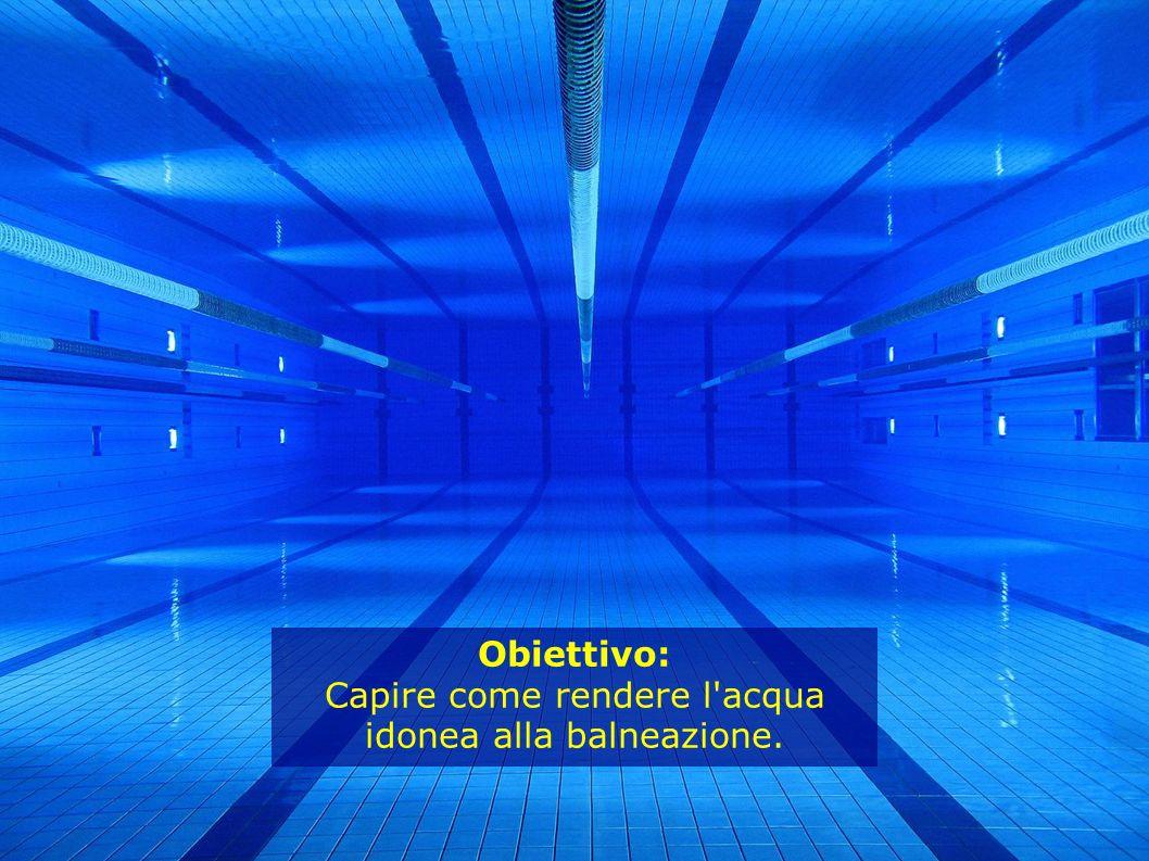 Obiettivo: Capire come rendere l'acqua idonea alla balneazione.