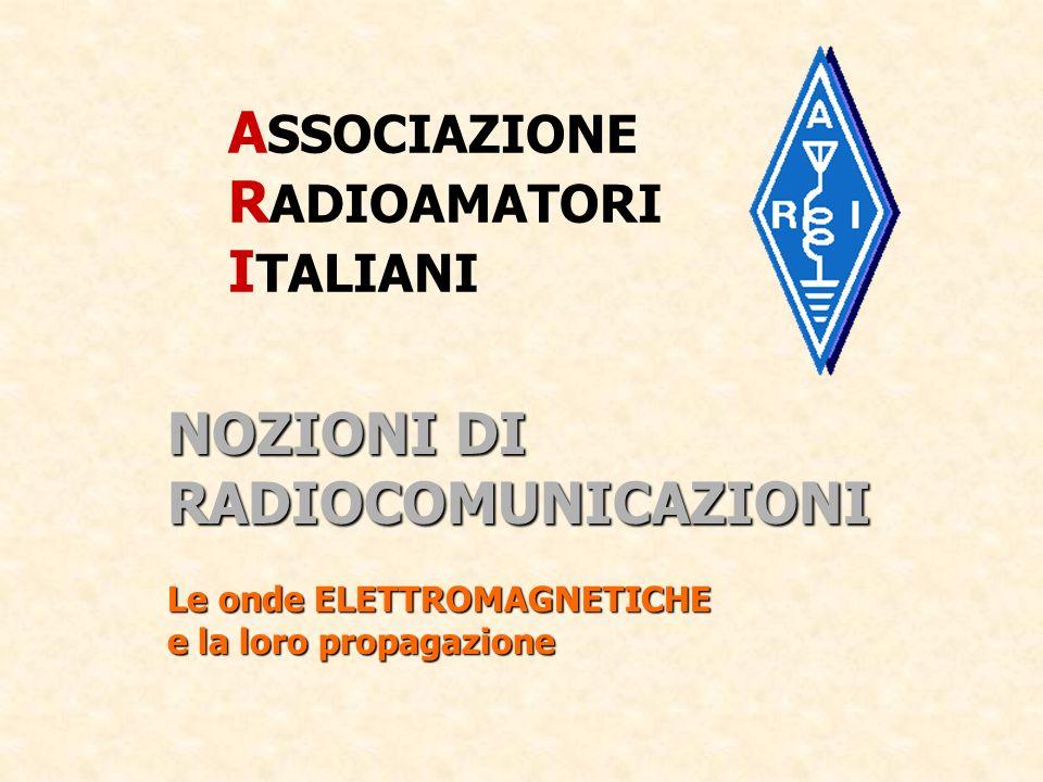 CLASSIFICAZIONE DELLE FREQUENZE ELETTROMAGNETICHE ( o radiofrequenze ) VLF Very Low Frequencies da 3 a 30 KHz LF Low Frequencies da 30 a 300 KHz MF Medium Frequencies da 300 a 3.000 KHz HF High Frequencies da 3 a 30 MHz VHF Very High Frequencies da 30 a 300 MHz UHF Ultra High Frequencies da 300 a 3.000 MHz SHF Super High Frequencies da 3 a 30 GHz EHF Extra High Frequencies oltre 30 GHz