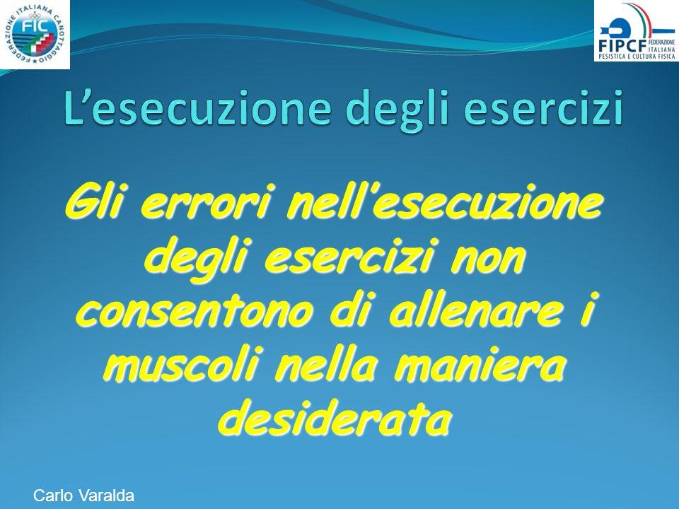 Gli errori nellesecuzione degli esercizi non consentono di allenare i muscoli nella maniera desiderata Carlo Varalda
