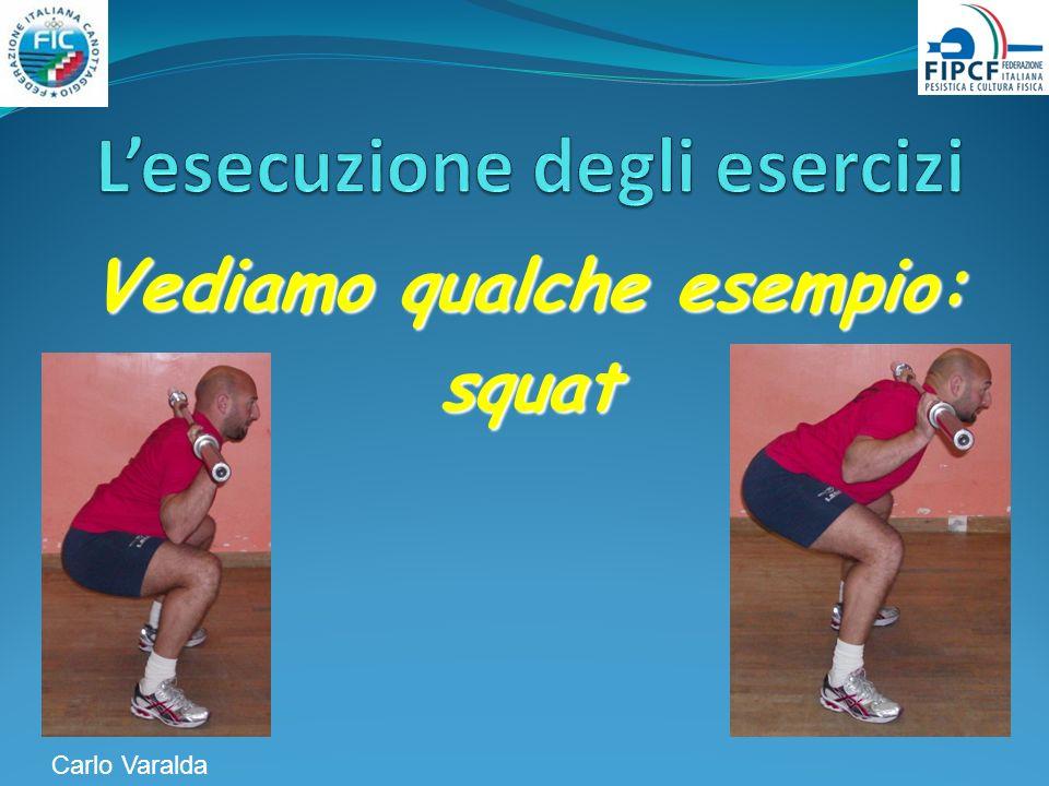 Vediamo qualche esempio: squat Carlo Varalda