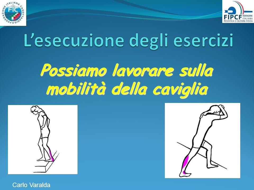 Possiamo lavorare sulla mobilità della caviglia Carlo Varalda