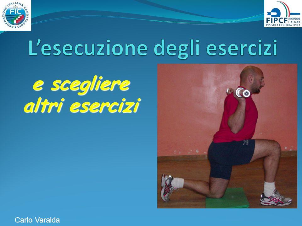 e scegliere altri esercizi Carlo Varalda