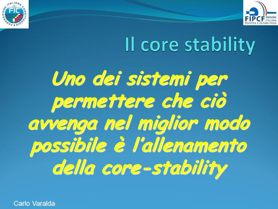 Uno dei sistemi per permettere che ciò avvenga nel miglior modo possibile è lallenamento della core-stability Carlo Varalda