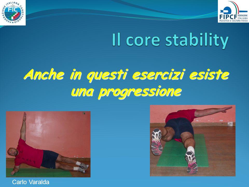 Anche in questi esercizi esiste una progressione Carlo Varalda