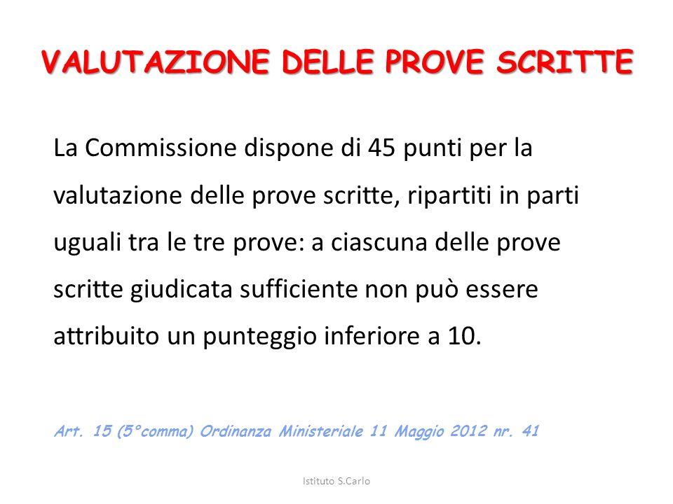 DURATA DELLE PROVE DESAME Istituto S.Carlo