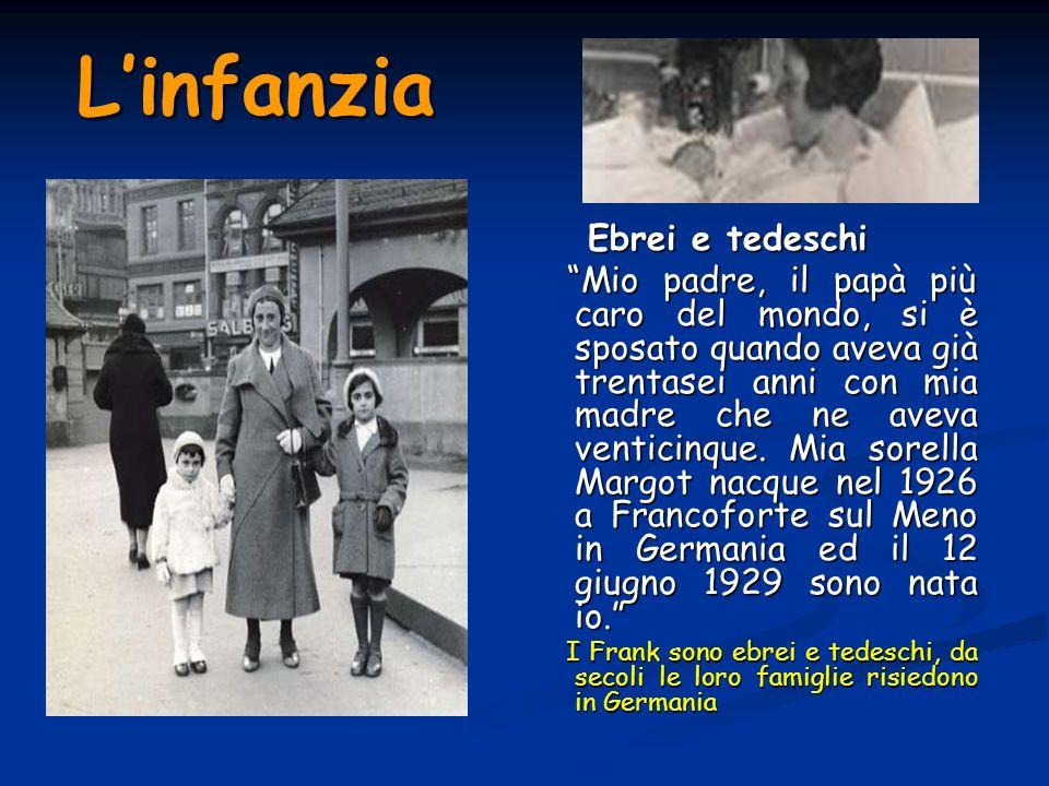 Linfanzia Ebrei e tedeschi Mio padre, il papà più caro del mondo, si è sposato quando aveva già trentasei anni con mia madre che ne aveva venticinque.