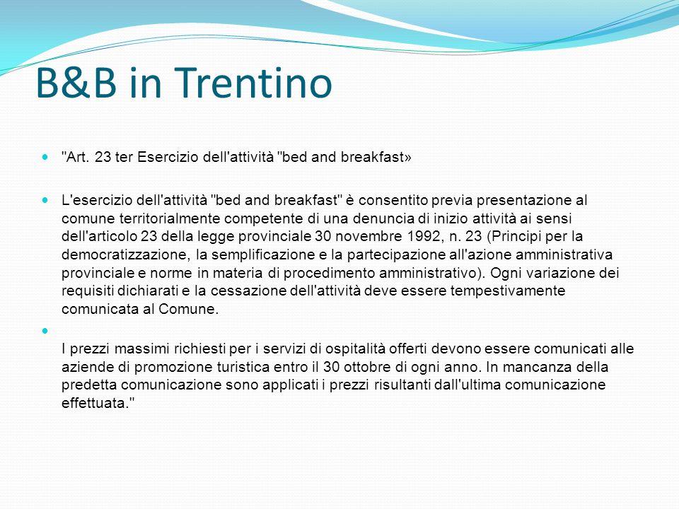 B&B in Trentino