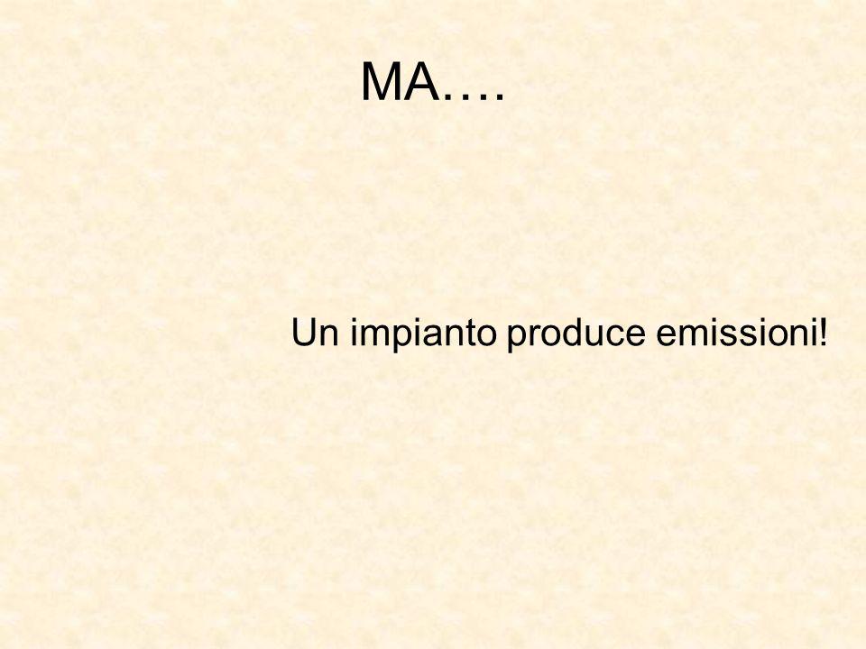 MA…. Un impianto produce emissioni!
