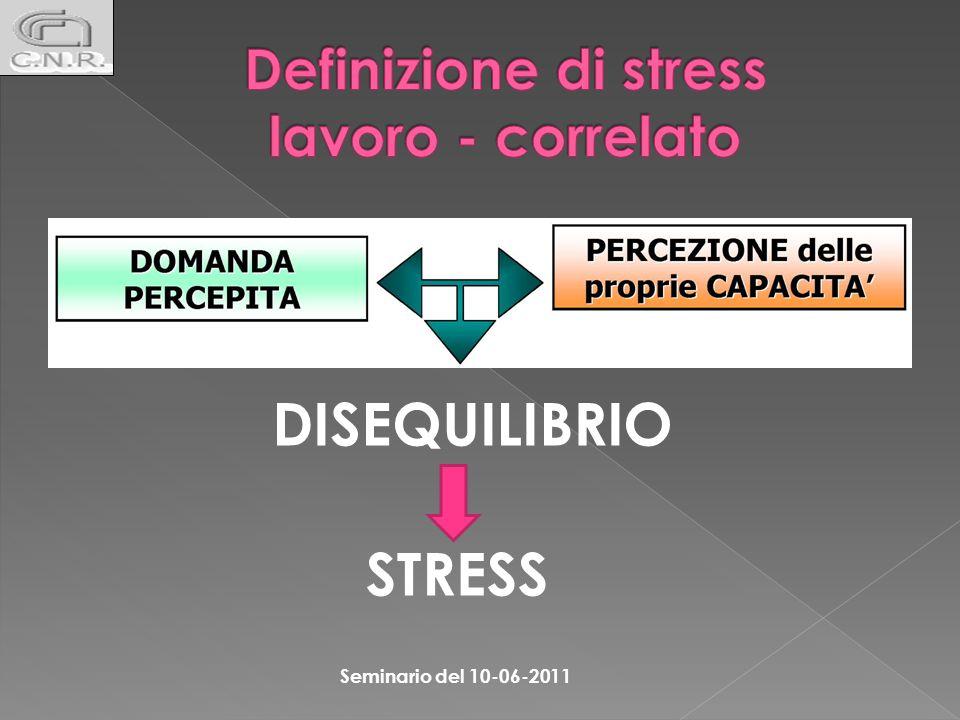 Potenziali indicatori di stress lavoro correlato A LIVELLO AZIENDALE: assenteismo elevata rotazione del personale frequenti conflitti interpersonali lamentele dai lavoratori Art.