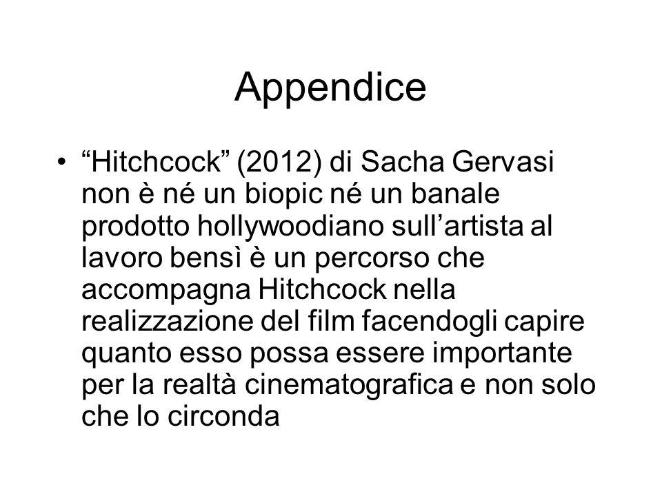 Appendice Hitchcock (2012) di Sacha Gervasi non è né un biopic né un banale prodotto hollywoodiano sullartista al lavoro bensì è un percorso che accom
