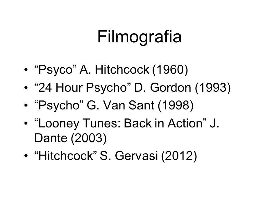 Filmografia Psyco A. Hitchcock (1960) 24 Hour Psycho D. Gordon (1993) Psycho G. Van Sant (1998) Looney Tunes: Back in Action J. Dante (2003) Hitchcock