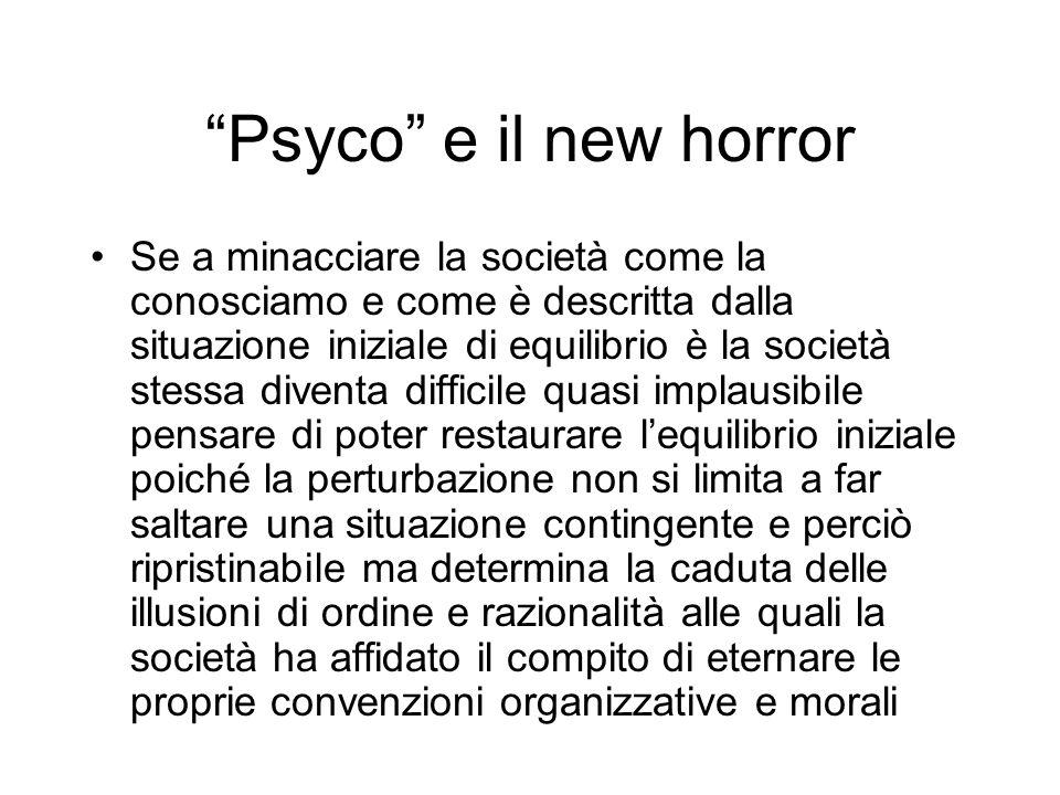 Psyco e il new horror Se a minacciare la società come la conosciamo e come è descritta dalla situazione iniziale di equilibrio è la società stessa div