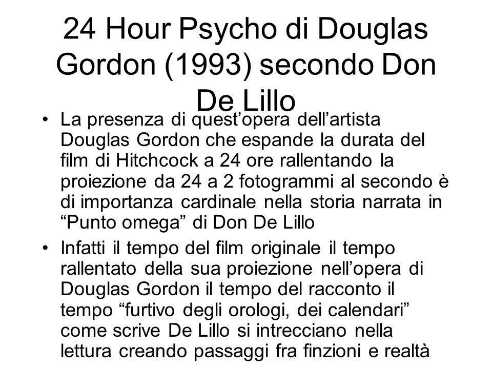 24 Hour Psycho di Douglas Gordon (1993) secondo Don De Lillo La presenza di questopera dellartista Douglas Gordon che espande la durata del film di Hi