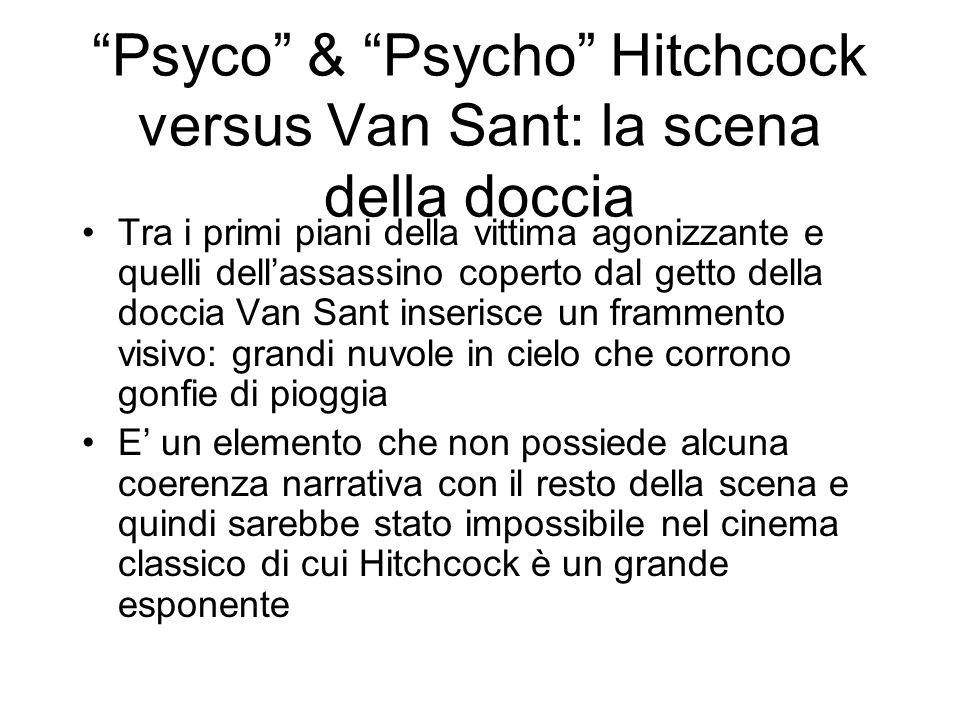 Psyco & Psycho Hitchcock versus Van Sant: la scena della doccia Tra i primi piani della vittima agonizzante e quelli dellassassino coperto dal getto d