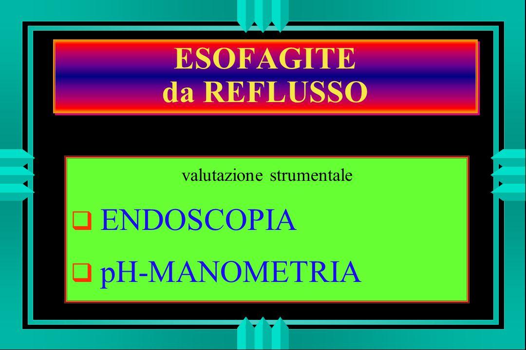 ESOFAGITE da REFLUSSO valutazione strumentale ENDOSCOPIA pH-MANOMETRIA