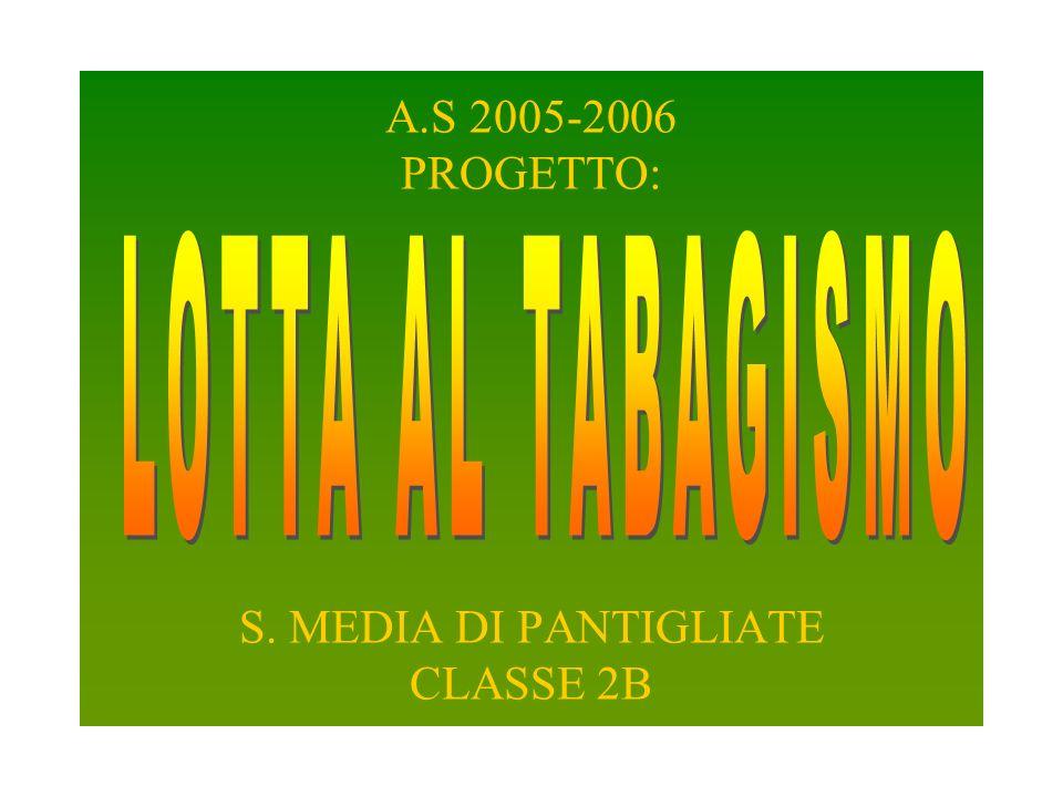 A.S 2005-2006 PROGETTO: S. MEDIA DI PANTIGLIATE CLASSE 2B