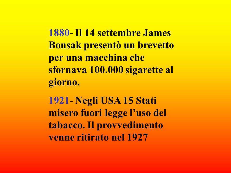 1628- In Iran ad alcuni mercanti di tabacco vennero pubblicamente tagliati il naso e le orecchie. 1634- In Russia i fumatori venivano scudisciati e co