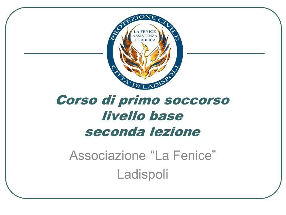 Corso di primo soccorso livello base seconda lezione Associazione La Fenice Ladispoli