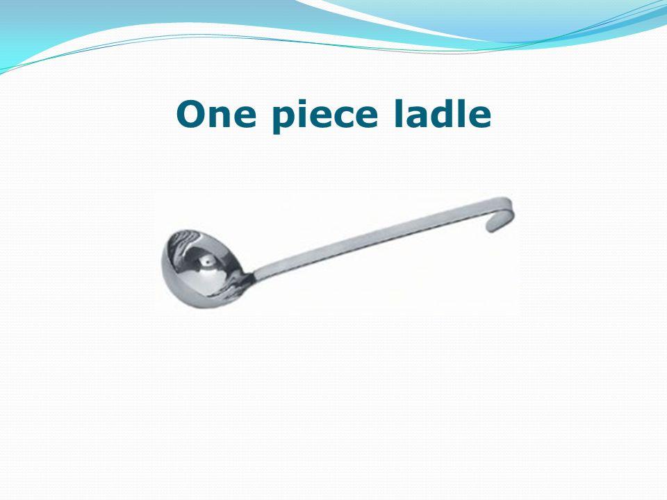 One piece ladle