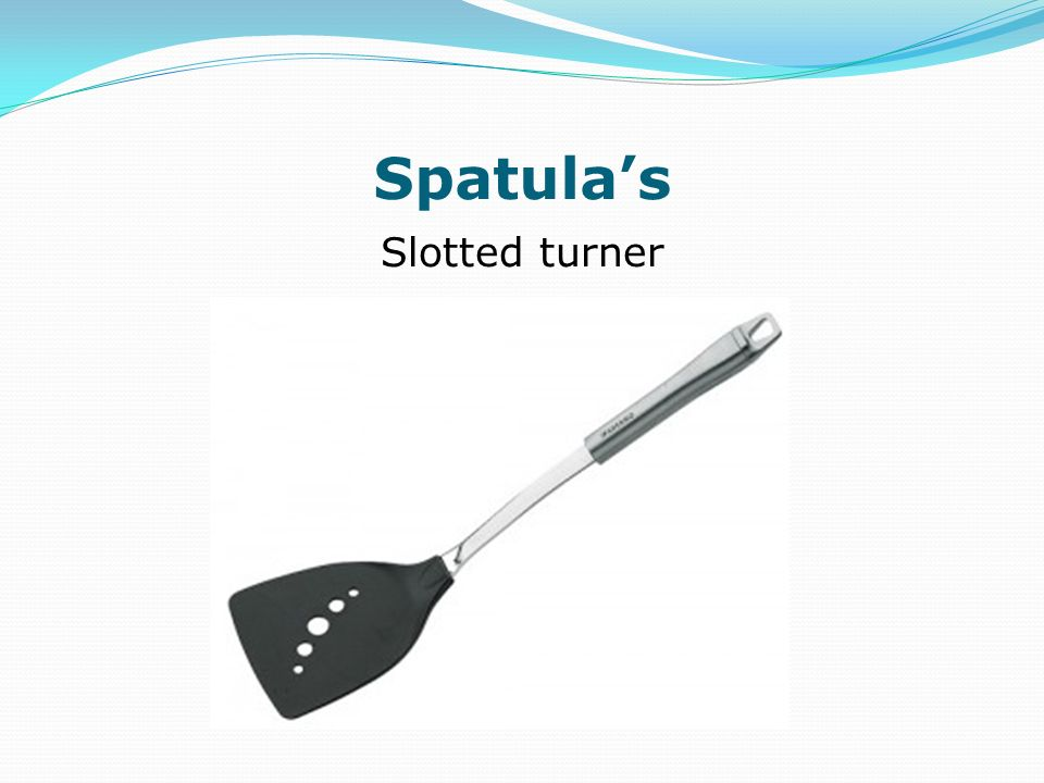 Spatulas Slotted turner