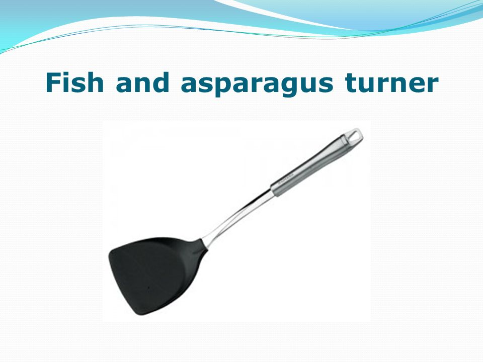 Fish and asparagus turner