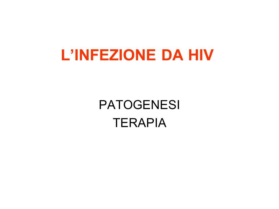 LINFEZIONE DA HIV PATOGENESI TERAPIA