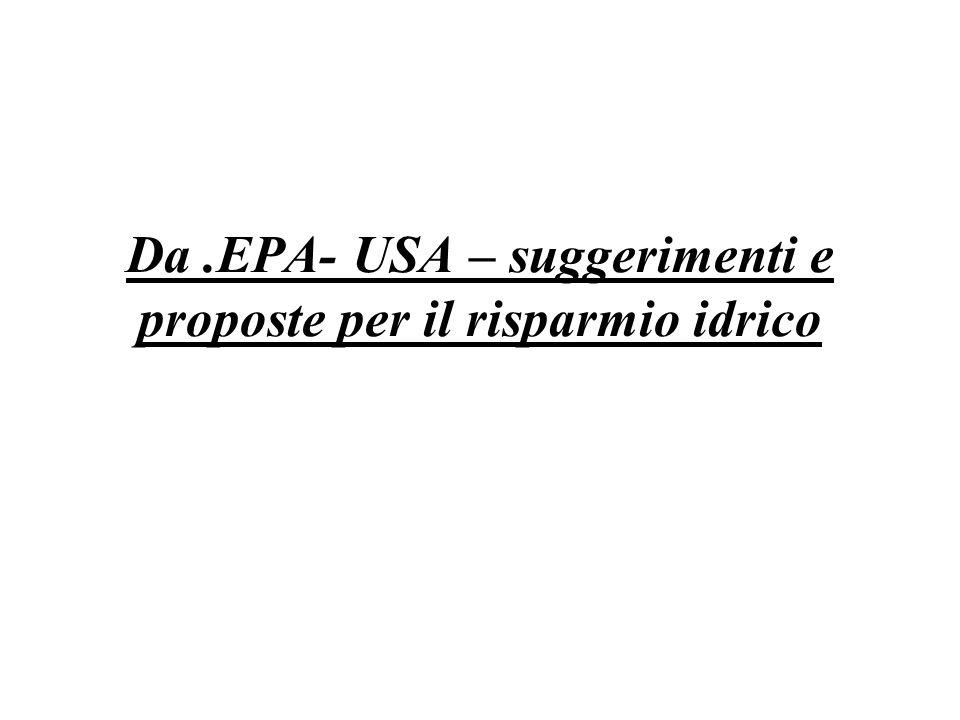 Da.EPA- USA – suggerimenti e proposte per il risparmio idrico