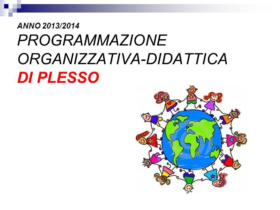 ANNO 2013/2014 PROGRAMMAZIONE ORGANIZZATIVA-DIDATTICA DI PLESSO