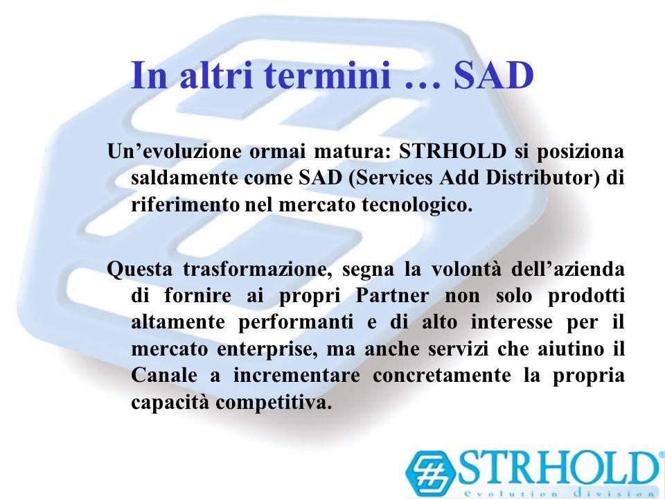In altri termini … SAD Unevoluzione ormai matura: STRHOLD si posiziona saldamente come SAD (Services Add Distributor) di riferimento nel mercato tecno