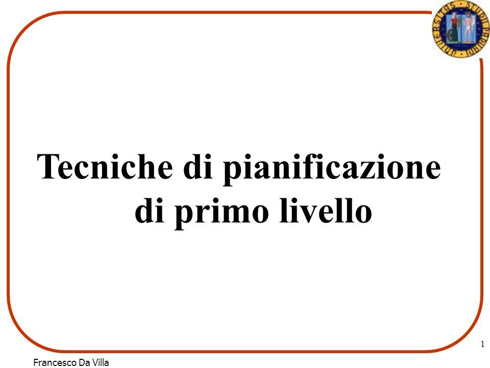 Francesco Da Villa 1 Tecniche di pianificazione di primo livello