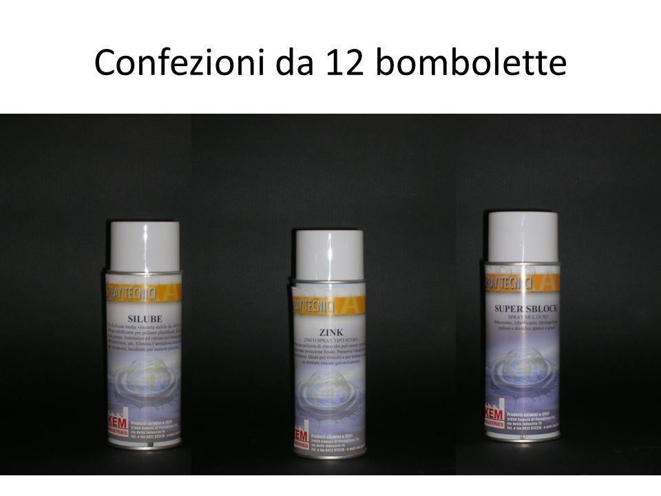 Confezioni da 12 bombolette