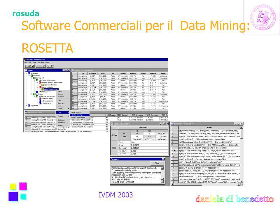 rosuda IVDM 2003 Software Commerciali per il Data Mining: ROSETTA