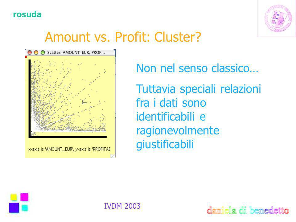 rosuda IVDM 2003 Amount vs.Profit: Cluster.