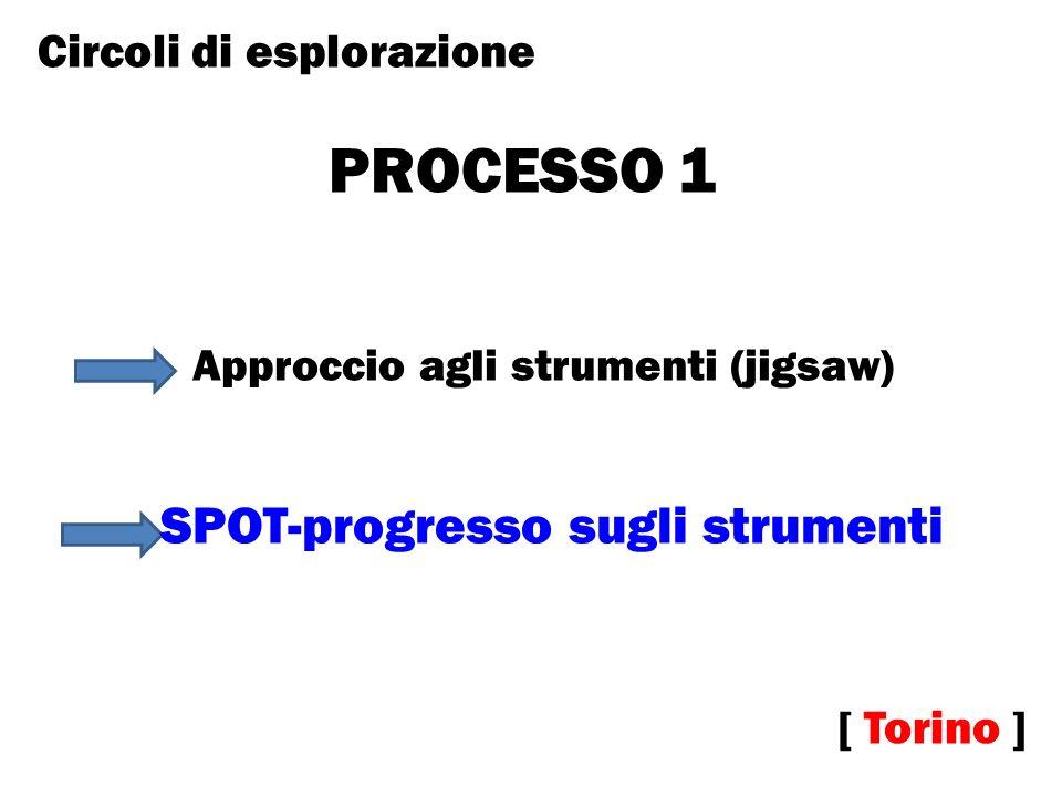 PROCESSO 1 [ Torino ] Approccio agli strumenti (jigsaw) Circoli di esplorazione SPOT-progresso sugli strumenti