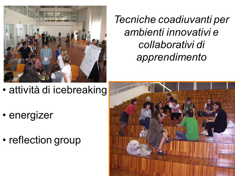 Tecniche coadiuvanti per ambienti innovativi e collaborativi di apprendimento attività di icebreaking energizer reflection group