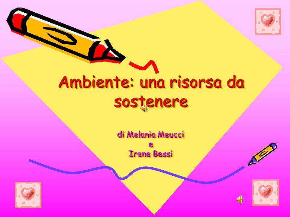 Ambiente: una risorsa da sostenere di Melania Meucci e Irene Bessi Ambiente: una risorsa da sostenere di Melania Meucci e Irene Bessi