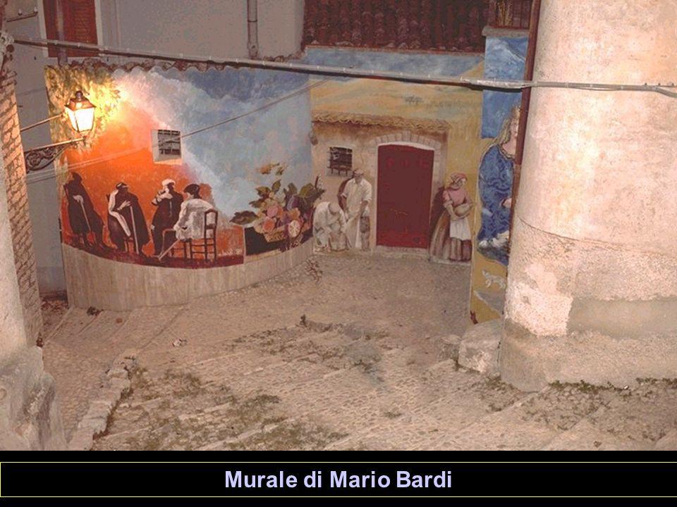 Particolare del murale di Totò Bonanno