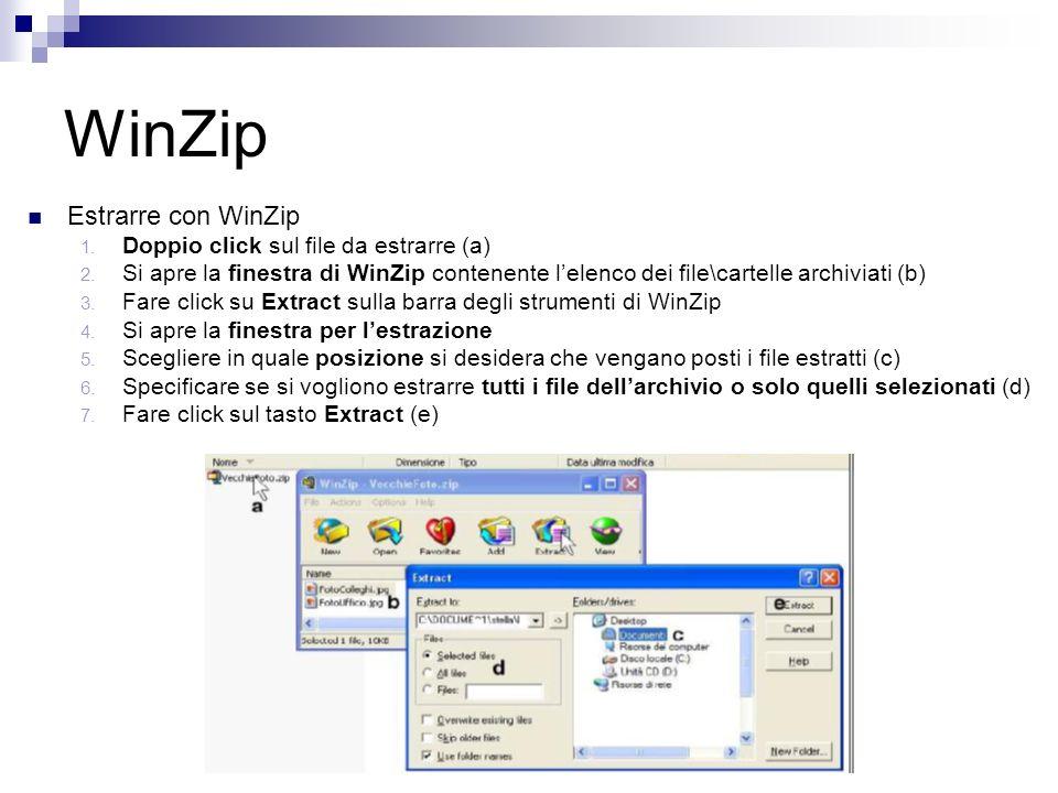 WinZip Estrarre con WinZip 1. Doppio click sul file da estrarre (a) 2.