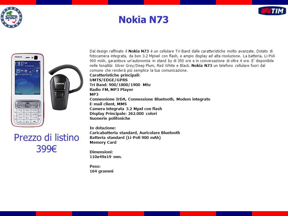 Dal design raffinato il Nokia N73 è un cellulare Tri Band dalle caratteristiche molto avanzate. Dotato di fotocamera integrata, da ben 3.2 Mpixel con