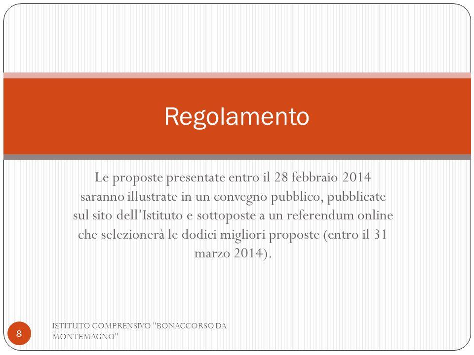 Le proposte presentate entro il 28 febbraio 2014 saranno illustrate in un convegno pubblico, pubblicate sul sito dellIstituto e sottoposte a un refere
