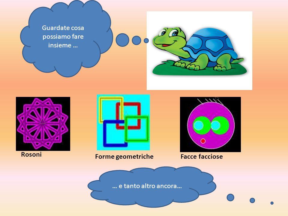 Guardate cosa possiamo fare insieme … Rosoni Forme geometricheFacce facciose … e tanto altro ancora…