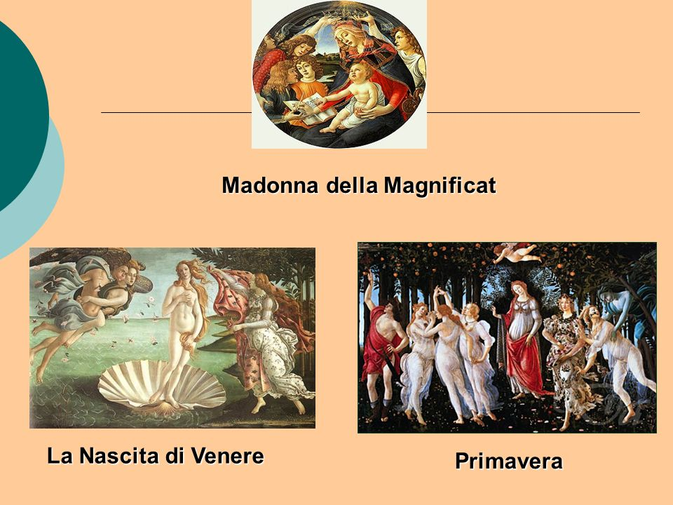 La Nascita di Venere Primavera Madonna della Magnificat